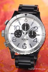 ニクソン NIXON 腕時計 メンズ 48-20 Chrono Black / Silver A486180