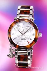 ヴィヴィアンウエストウッド 腕時計 Orb (オーブ) シルバー×ブラウントートイズ レディース VV006SLBR