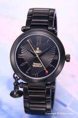 ヴィヴィアンウエストウッド 腕時計 オーブ オールブラック レディース VV006BK