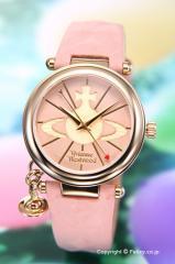 ヴィヴィアンウエストウッド 腕時計 オーブ2 クリームピンク×ゴールド/クリームピンクレザー レディース VV006PKPK