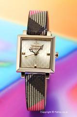 ヴィヴィアンウエストウッド 腕時計 レディース エキシビター ゴールド/チェックレザー VV087GDBR