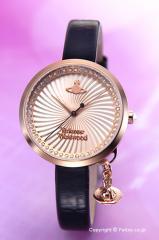 Vivienne Westwood ヴィヴィアンウエストウッド 腕時計 ボウ ローズゴールド×ブラック VV139RSBK