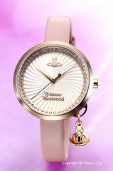 Vivienne Westwood ヴィヴィアンウエストウッド 腕時計 ボウ ホワイト×ゴールド/ピンクレザーストラップ VV139WHPK