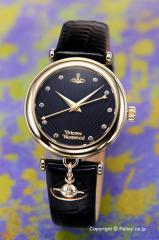 ヴィヴィアンウエストウッド 腕時計 Trafalgar (トラファルガー) ブラック×ゴールド VV108BKBK