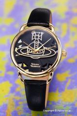 ヴィヴィアンウエストウッド 腕時計 Leadenhall (リーデンホール) ブラック×ゴールド VV163BKBK