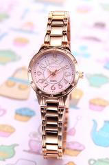 フォーエバー レディース腕時計 FL2602 シリーズ ピンクパール×ピンクゴールド(With1Pダイヤ) FL-2602-7