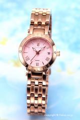 フォーエバー レディース腕時計 FL2506 シリーズ ピンク×ピンクゴールド(With1Pダイヤ) FL-1203-2