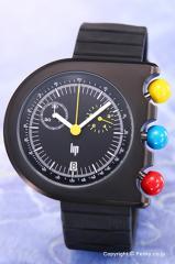 リップ LIP 腕時計 マッハ2000/ダークマスター クロノグラフ ブラック 1892512