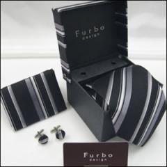 Furbo フルボ Fu-YLD1041T-F ネクタイ チーフ カフス マルチ系 ストライプ柄