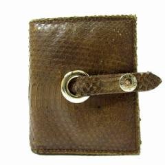 【中古】ジミーチュウ 二つ折り財布◆  レディース◆美品 ブラウン t6
