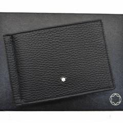 【美品】【中古】モンブラン 二つ折り札入れ   メンズ ブラック k8044