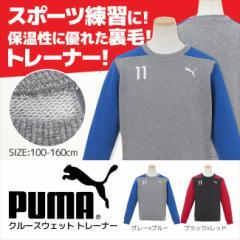 【セール】プーマ PUMA 女の子 クルースウェット トレーナー  キッズ ジュニア 裏毛 女の子 100cmから160cm