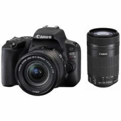 CANON EOS Kiss X9 ダブルズームキット ブラック [デジタル一眼カメラ (2420万画素)]【あす着】