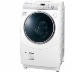 SHARP ES-H10C-WL ホワイト系 [斜め型ドラム式洗濯乾燥機 (洗濯10.0kg /乾燥6.0kg) 左開き]