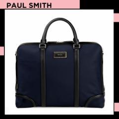 ポールスミス Paul Smith メンズ シティトラベルナイロン 2WAYブリーフケース ネイビー 送料無料 代引き料有料 消費税込