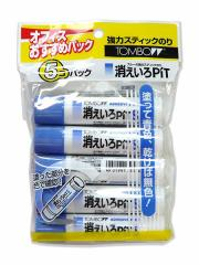 スティック糊消えいろピットS 5本パック HCA-513◆トンボ鉛筆◆固形のり
