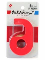 小巻カッター付セロテープ レッド CT-18DRR◆ニチバン◆セロハンテープ