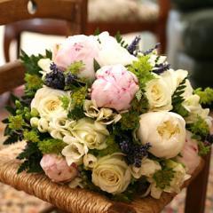 【人気ランキング 1位】父の日 ギフト 花89 おまかせ!アンティークブーケ花束  (カーベラ、バラ、ユリ、