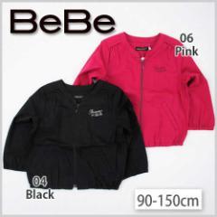 【12/9新入荷特別】75%OFF【BeBe/ベベ】配色刺繍入りジャケット/90-150cm/クロのみ-beo