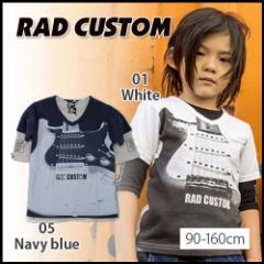 【2/7新入荷】30%OFF【RAD CUSTOM/ラッドカスタム】Vネック5分袖天竺Tシャツセット/90-160cm-rt