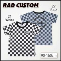 【3/14新入荷】30%OFF【RAD CUSTOM/ラッドカスタム】ロゴプリント5分袖天竺Tシャツ/90-160cm-rt