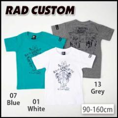 【3/14新入荷】30%OFF【RAD CUSTOM/ラッドカスタム】スカル保安官天竺Tシャツ/90-160cm-rt