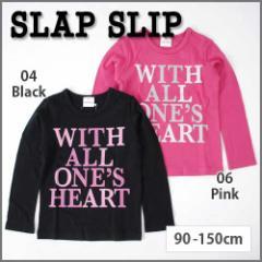 【9/22新入荷】30%OFF【SLAP SLIP/スラップスリップ】天竺デカロゴ長袖Tシャツ/90-150cm-st