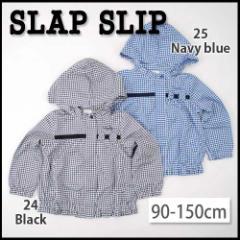 【2/8新入荷特別】60%OFF【SLAP SLIP/スラップスリップ】コットン裏地付きギンガムチェックAラインジャケット90-150cm-st-so