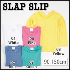 【4/4新入荷】53%OFF【SLAP SLIP/スラップスリップ】リボン&衿レース針抜きタックフライスTシャツ/90-150cm-st