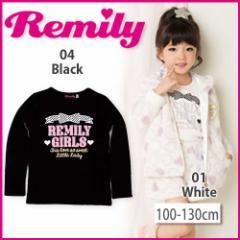 【1/17再値下げ】60%OFF【Remily/レミリー】ロゴ&リボンプリントTシャツ/100-130cm-ret
