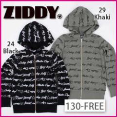 【1/17再値下げ】60%OFF【ZIDDY/ジディー】ロゴ総柄ウラゲパーカー/130-FREE-zt-zo