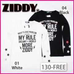 【1/17再値下げ】60%OFF【ZIDDY/ジディー】かすれロゴプリントスムースTシャツ/130-FREE-zt
