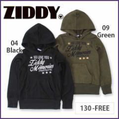 【10/31再値下げ】40%OFF【ZIDDY/ジディー】ニットフリースロゴ刺繍パーカー/130cm-FREE-zt