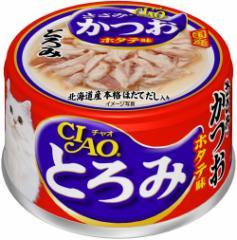 チャオ とろみ ささみ・かつお ホタテ味 缶詰 80g 【いなば チャオ(CIAO)】【キャットフード/ウェットフード・猫缶】