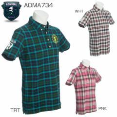 アドミラル Admiral メンズ ゴルフウェア タータン ボタンダウン シャツ ADMA734 2017年春夏モデル