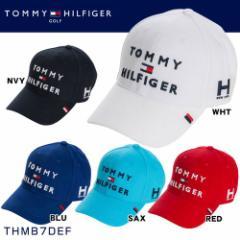 トミー ヒルフィガー ゴルフ TOMMY HILFIGER 3段ロゴ キャップ THMB7DEF