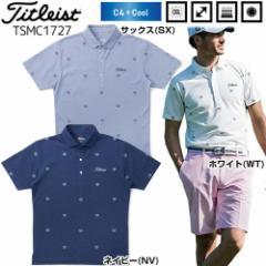 065eaccdde784 タイトリスト Titleist メンズ ゴルフウエア C4+COOL クローバー刺繍 カノコ 半袖ポロシャツ TSMC1727