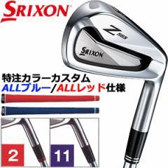 スリクソン Z565 アイアン カラーカスタム:ALL レッド/ ALL ブルー仕様 N.S.PRO 980GH D.S.T. スチールシャフト 6本セット[#5-PW]
