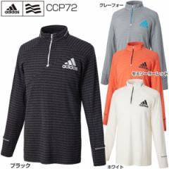 アディダス ゴルフウェア メンズ JP CP EKS ジオメトリック ジップモック 長袖シャツ CCP72 2017年秋冬モデル