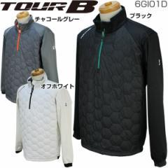 ブリヂストン TOUR B メンズ ゴルフウェア 3D解析パターン 吸湿発熱 ハーフジップ 中綿ブルゾン 6GI01D 2017年秋冬モデル