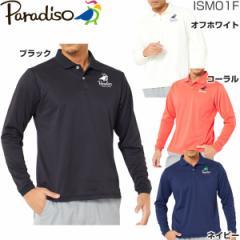 ブリヂストン パラディーゾ メンズ ゴルフウェア カノコ 長袖ポロシャツISM01F 2017年秋冬モデル