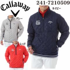 キャロウェイ メンズ ゴルフウエア リップストップ 2WAY ハーフジップ 中綿ブルゾン 241-7210509 2017年秋冬モデル