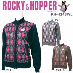 ロッキー&ホッパー レディース ゴルフウエア アーガイル柄 フルジップ 防風セーター RH-4343WL