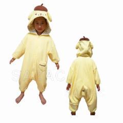 ハロウィン 衣装 フリース 着ぐるみ 子供 ポムポムプリン san69 コスプレ 仮装 着ぐるみパジャマ 部屋着 宴会 お祭り ハロウイン