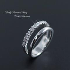 ピンキー リング 指輪  キュービックジルコニア 12石 レディース プレゼント メール便 送料無料 クリスマス ギフト