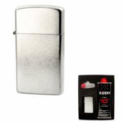 ZIPPO(ジッポー) スタンダードスリム クローム バレル仕上げ 1607 ZIPPO社ギフトセット gift-1607  / ライター レディース メ 送料無料