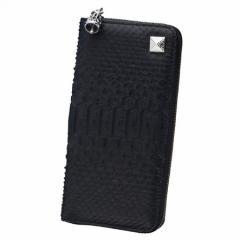 Bizarre ビザール 財布 メンズ レディース マジェスティックパイソンラウンドジップロングウォレット ブラック lwp037bk 送料無料