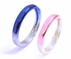AQUA SILVER(アクアシルバー) ペア ゆらぎ ブルー ピンク グラデーション シルバー リング(指輪) asr-176alnb-pk【送料無料】