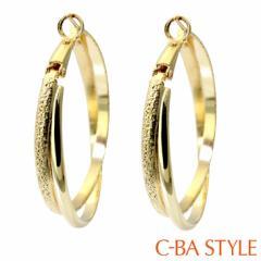C-BA STYLE (シーバスタイル) ~First ファースト~ ピアス レディース BIG フープ (輪) ゴールド シルバー カラー メール便