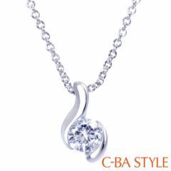 C-BA STYLE (シーバスタイル) ~First ファースト~ ネックレス レディース 波 (ウェーブ) CZ シルバー カラー メール便 誕生日プレゼント